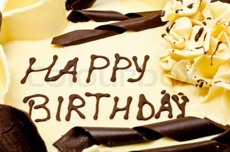 Schokoladenkuchen Mit Worten Alles Gute Zum Geburtstag Auf