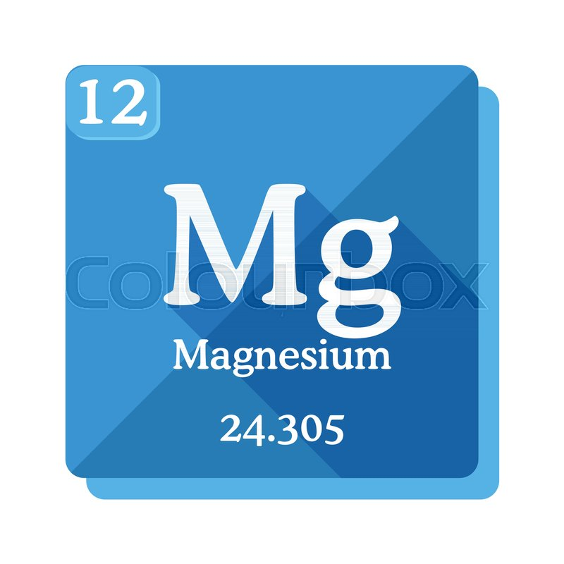 Magnesium chemical element periodic table of the elements magnesium chemical element periodic table of the elements magnesium icon on blue background vector illustration in flat style with modern long shadow urtaz Image collections