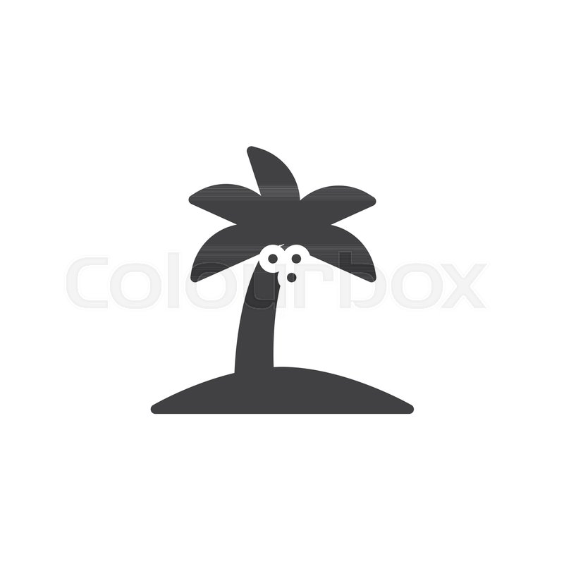 Palm Tree Vector Icon Filled Flat Sign For Mobile Concept And Web