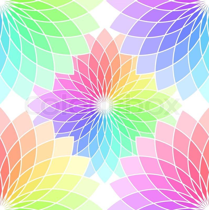 Alfa img - Showing > Rainbow Circle Background Design Flower Swirl ...