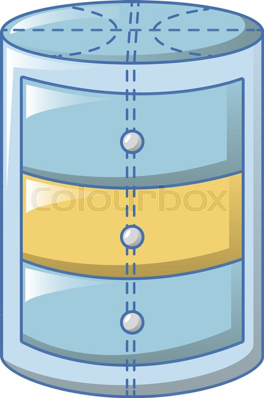 Round bath stand icon. Cartoon of round bath stand vector icon for ...