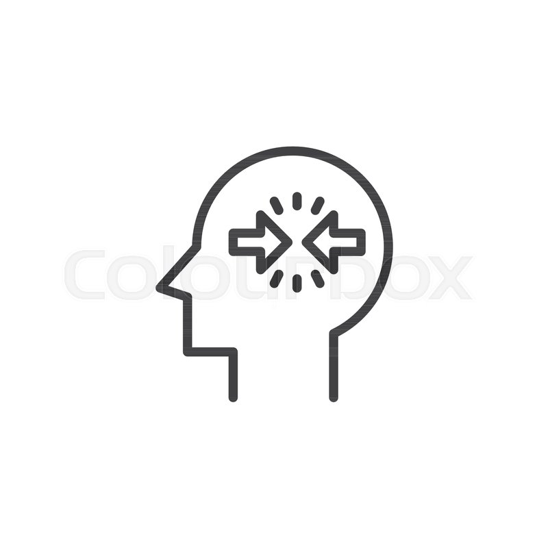 Conflict Resolution Outline Icon Linear Style Sign For Mobile