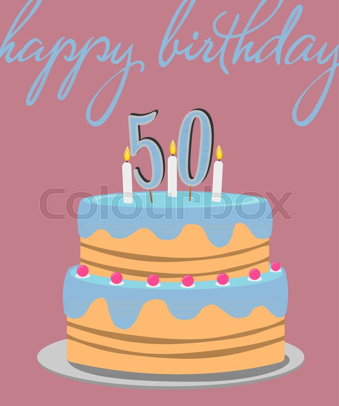 Happy 50th Birthday Greeting Card With