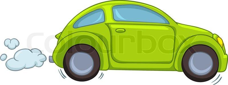 Cartoon Auto Auf Weißem Hintergrund Stock Vektor Colourbox