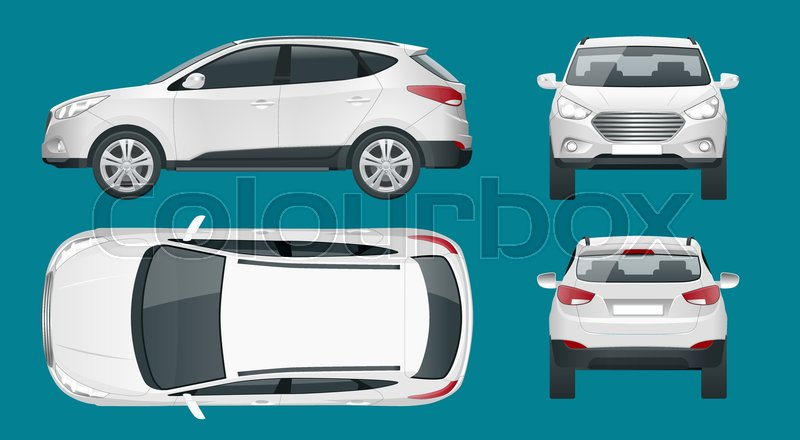 Car vector template on white     | Stock vector | Colourbox
