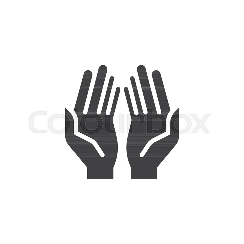 prayer hands vector icon filled flat stock vector colourbox prayer hands vector icon filled flat