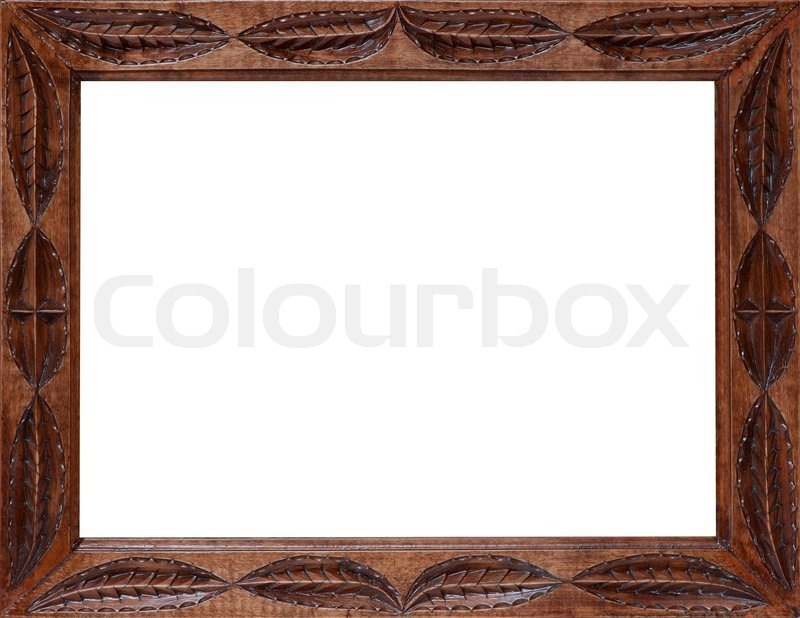 Empty wooden frame, fretwork for a painting or picture ...