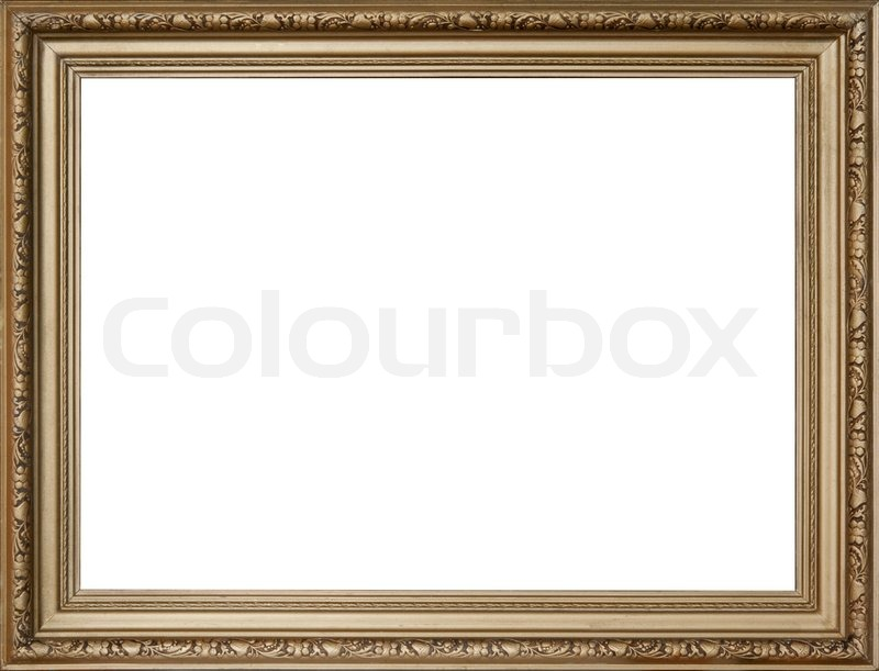 Nice empty golden frame for picture or portrait | Stock Photo | Colourbox