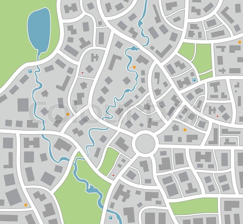 Vector City Map Stock Vector Colourbox