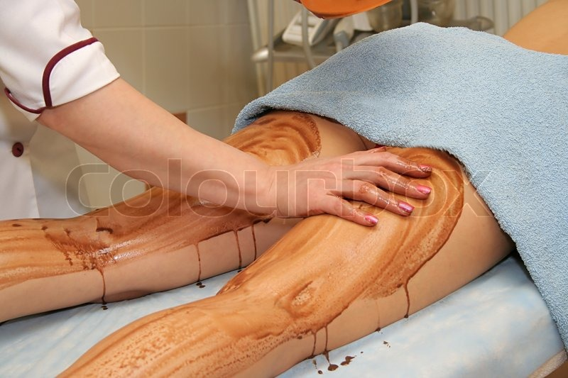 Therapeutic muds in a modern beauty salon, stock photo