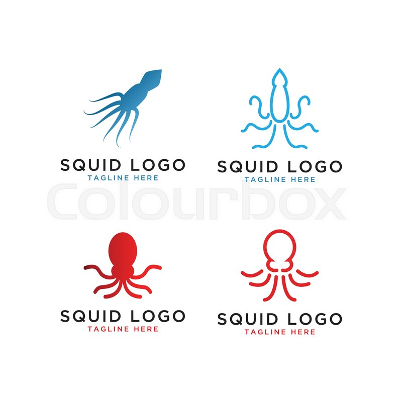 illustration of squid octopus logo stock vector colourbox illustration of squid octopus logo