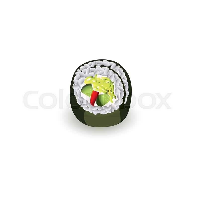 Sushi Roll Fresh Traditional Stock Vector Colourbox