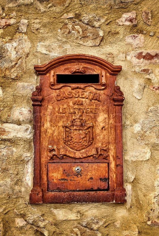 an old and rusty letter box