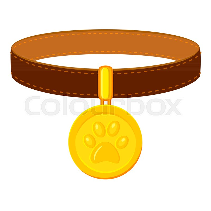 Colorful Cartoon Pet Collar Simple Stock Vector Colourbox
