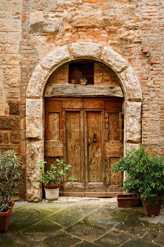 Old Doors Of Tuscany Italy Stock Photo Colourbox