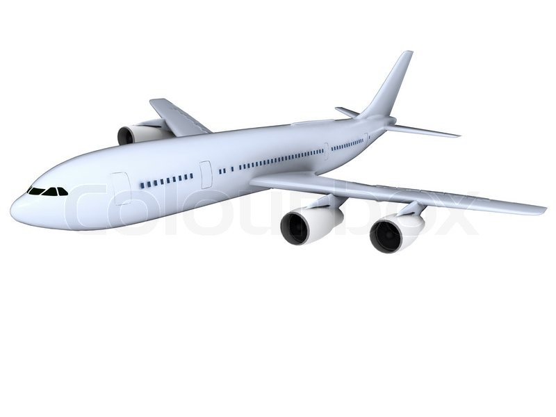 Airplane isolated on white background | Stock Photo ...