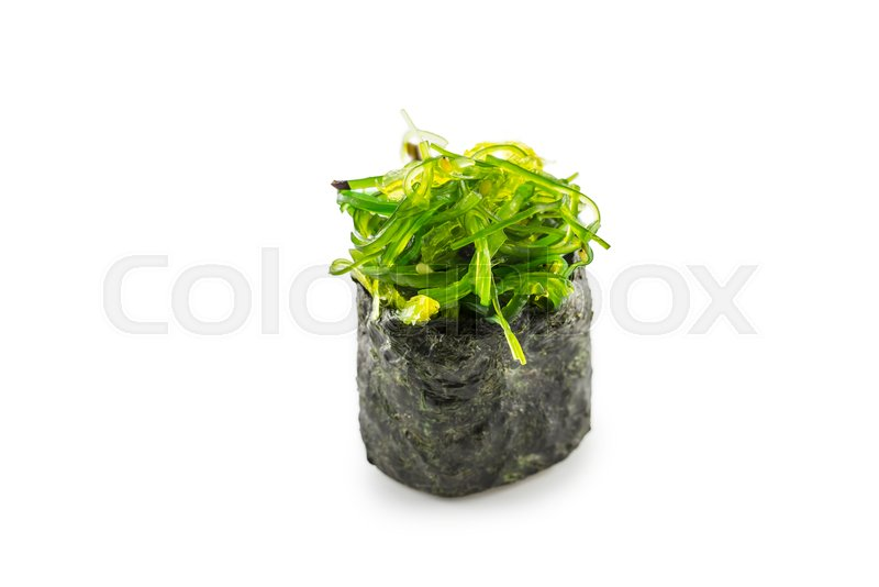 Gunkan Sushi With Wakame Seaweed Stock Image Colourbox