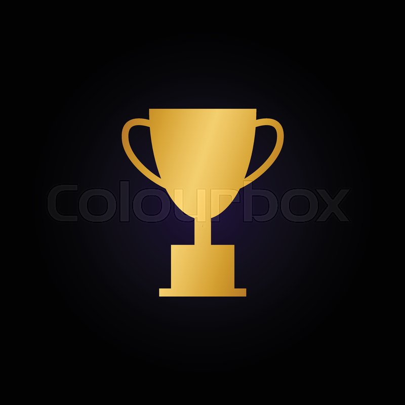 illustration of trophy cup graphic template vector stock vector
