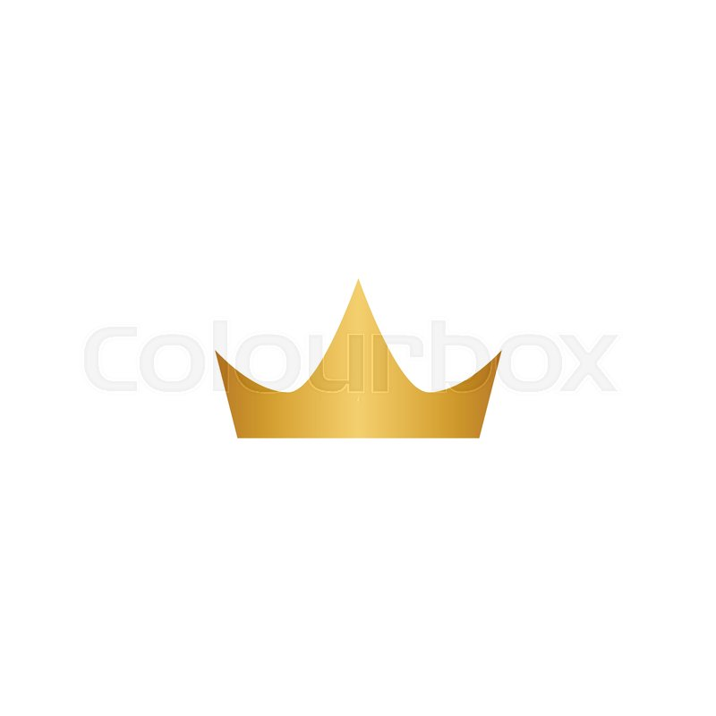 illustration of gold crown logo icon element stock vector colourbox
