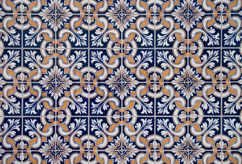 Detail Of Portuguese Glazed Tiles Stock Photo Colourbox