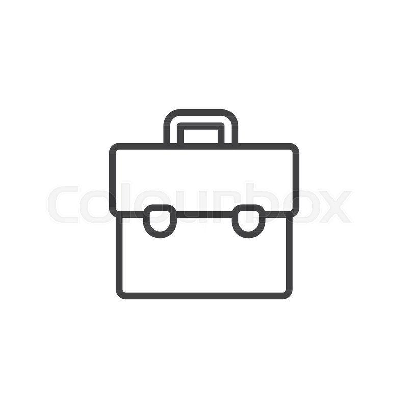 Suitcase outline icon. linear style