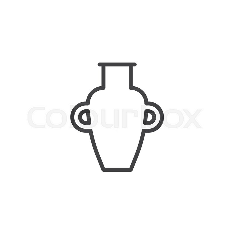 Amphora Vase Outline Icon Linear Style Sign For Mobile Concept And