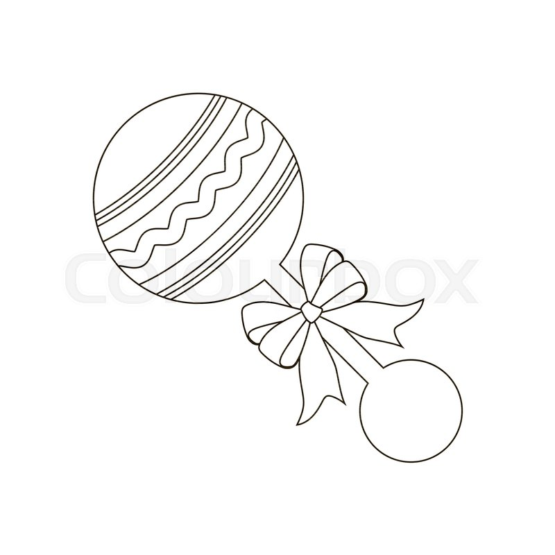 Wondrous Baby Beanbag Illustration On The White Stock Vector Squirreltailoven Fun Painted Chair Ideas Images Squirreltailovenorg