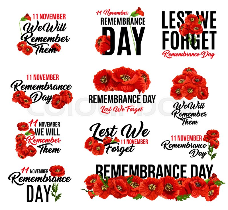 Remembrance Day Poppy Flower Icon Memorial Day Floral Symbol Of Red