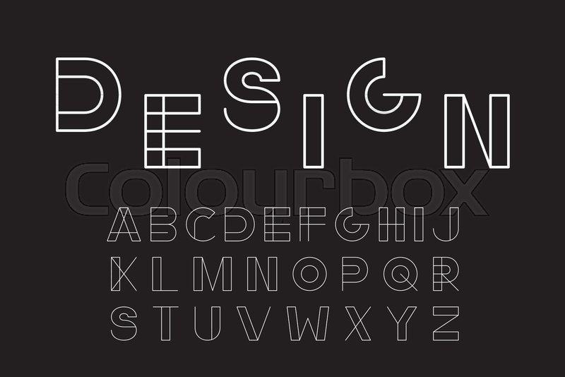 Vector minimalistic font - modern     | Stock vector | Colourbox