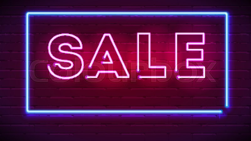neon sale sign gameroom decor accessories