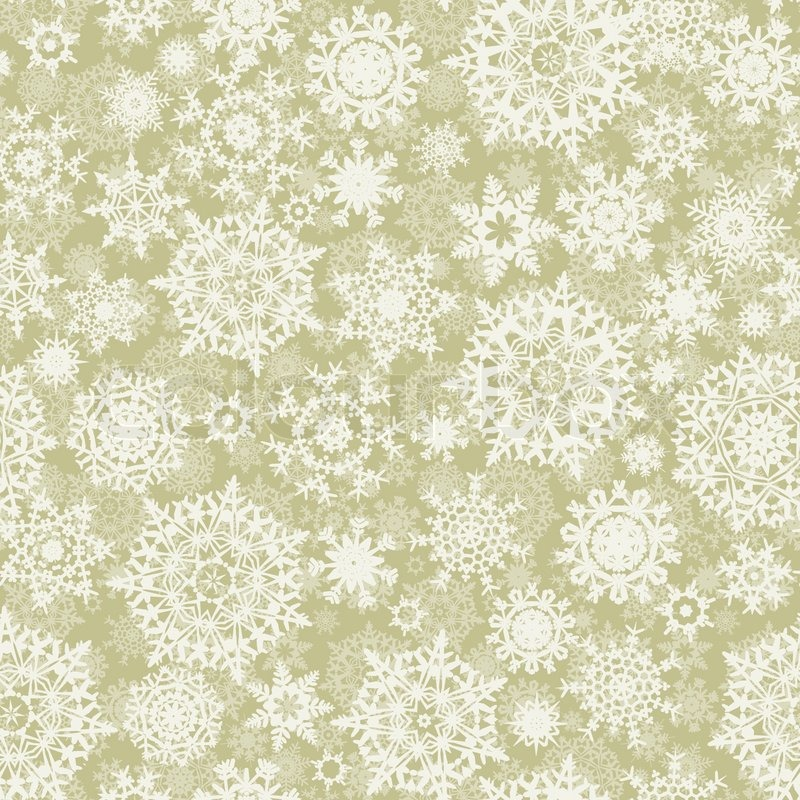 Elegant Christmas background with snowflakes | Stock Vector | Colourbox