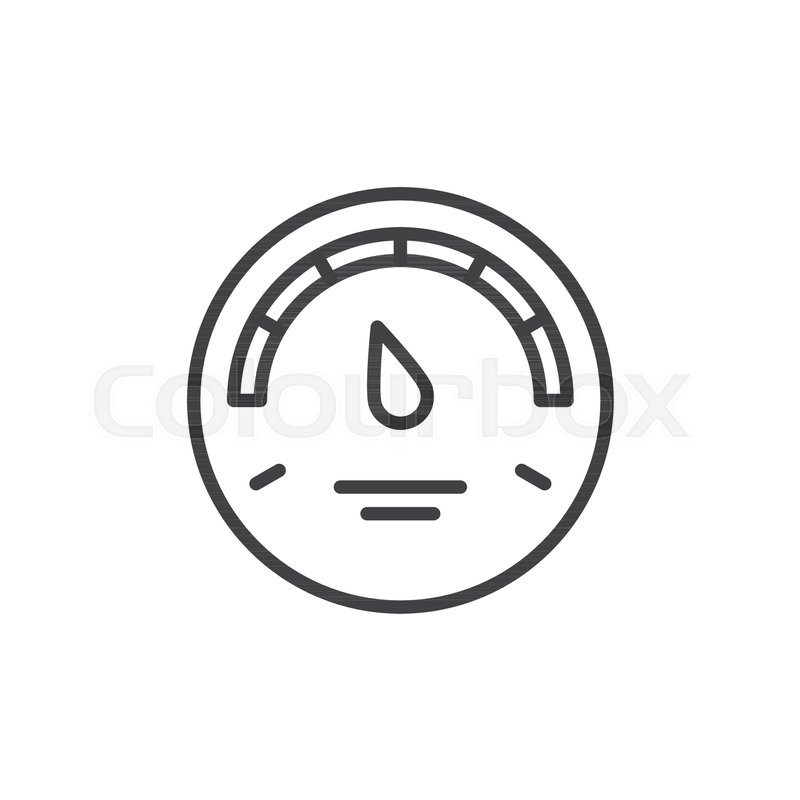 Gas Gauge Outline Icon Linear Style Sign For Mobile Concept And Web