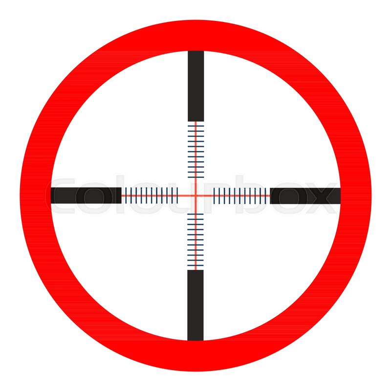 Crosshairs Icon Vector Target Aim Sniper Symbol Weapon