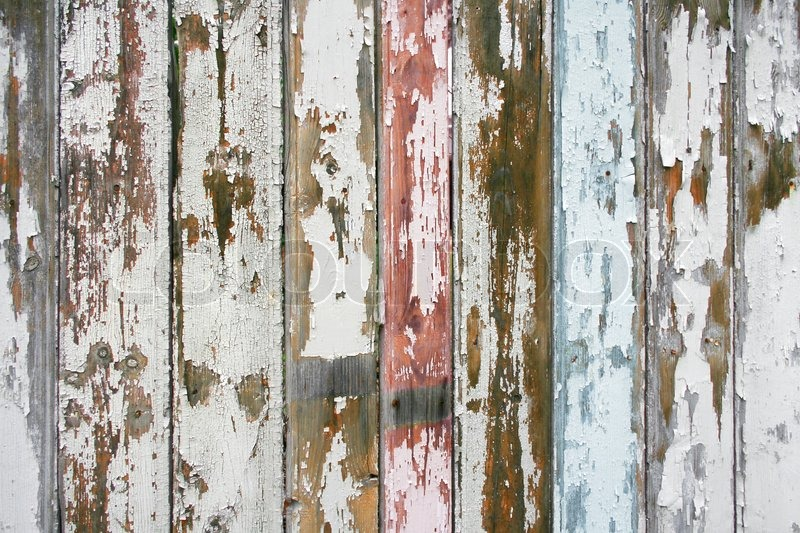 Old wooden fence planks cracking paint texture stock - How to paint a wood fence ...