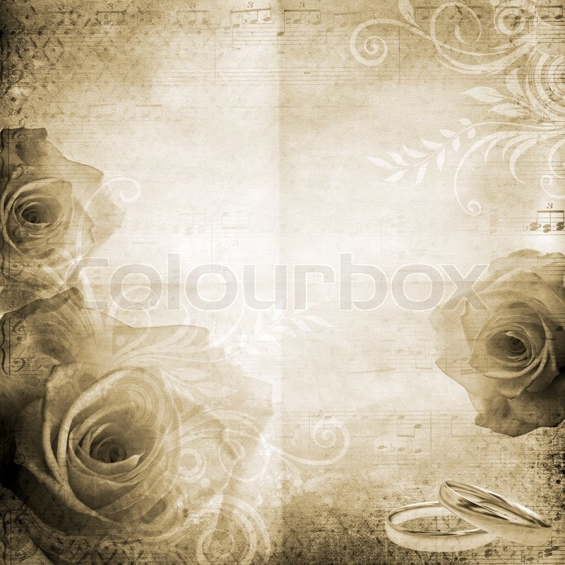 old Paper Background With Roses Stock Photo Colourbox