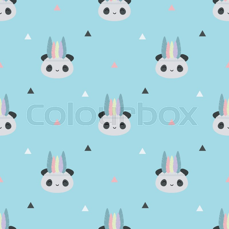 Seamless vector pattern with cute     | Stock vector | Colourbox