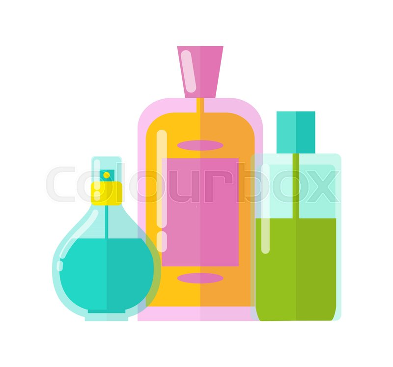 Colorful templates three vials vector illustration of different ...