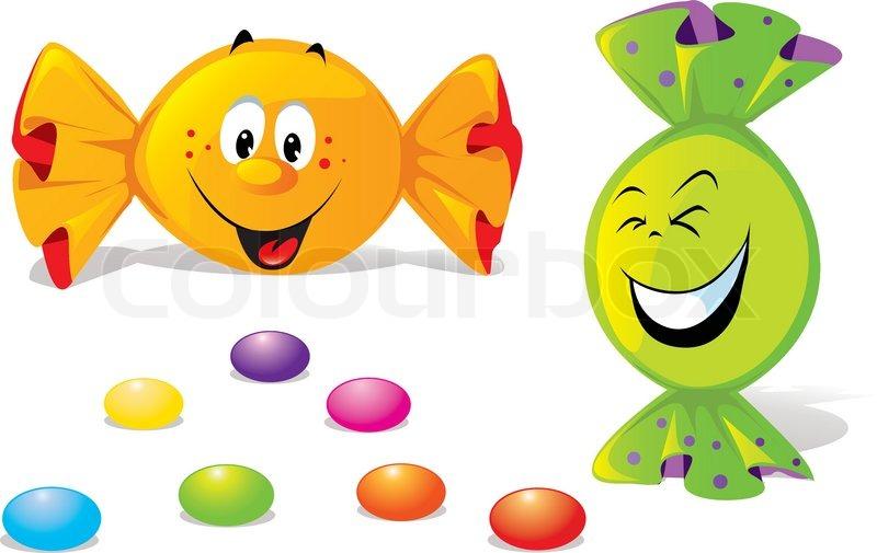 candy cartoon stock vector colourbox