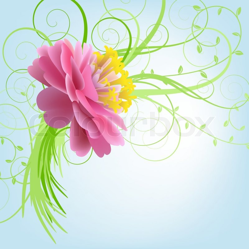 Pink flowers on a blue background stock vector colourbox mightylinksfo