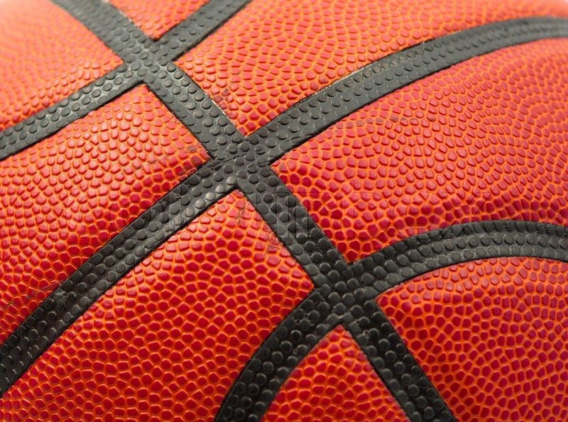 Orange Basketball texture close up, stock photo