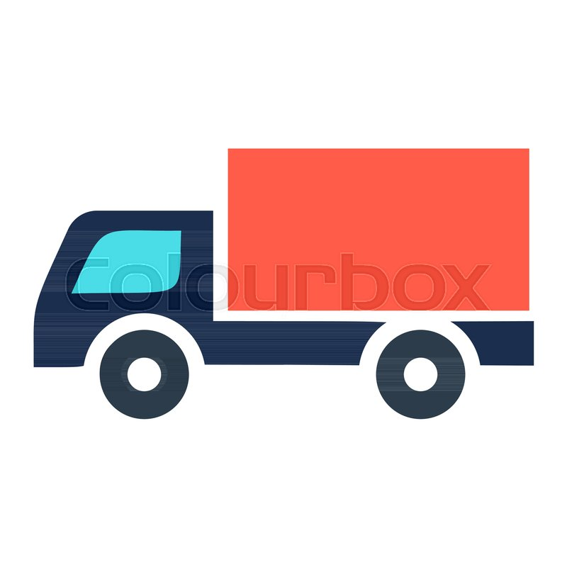 Delivery Truck Icon Isolated On White Stock Vector