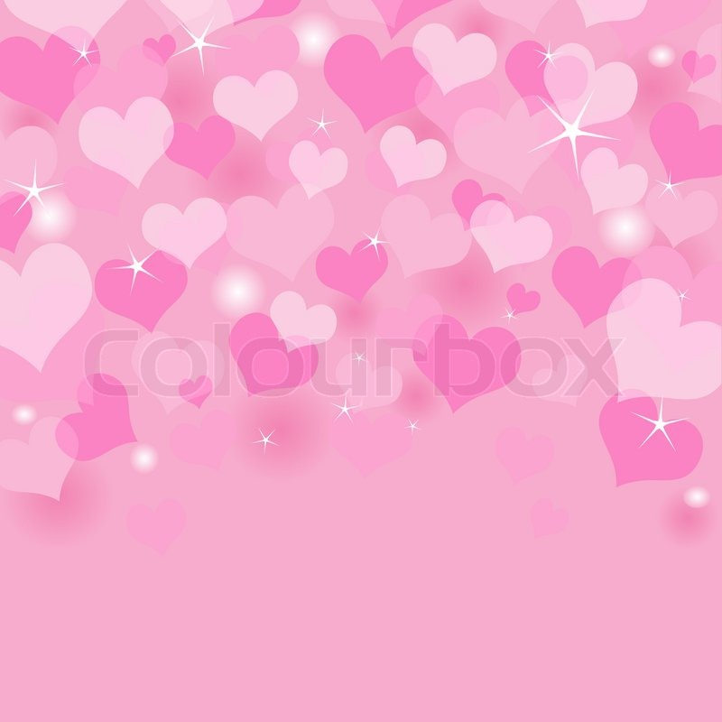 Beautiful Valentine\'s Day background with coloring hearts | Stock ...