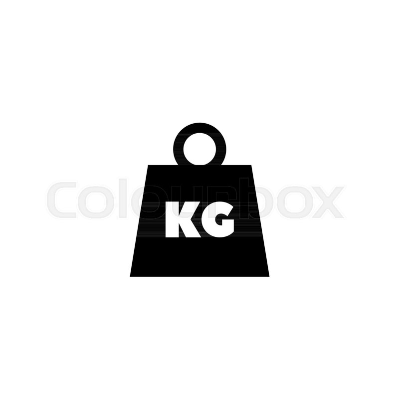 Weight Kilogram Flat Vector Icon Illustration Simple Black Symbol