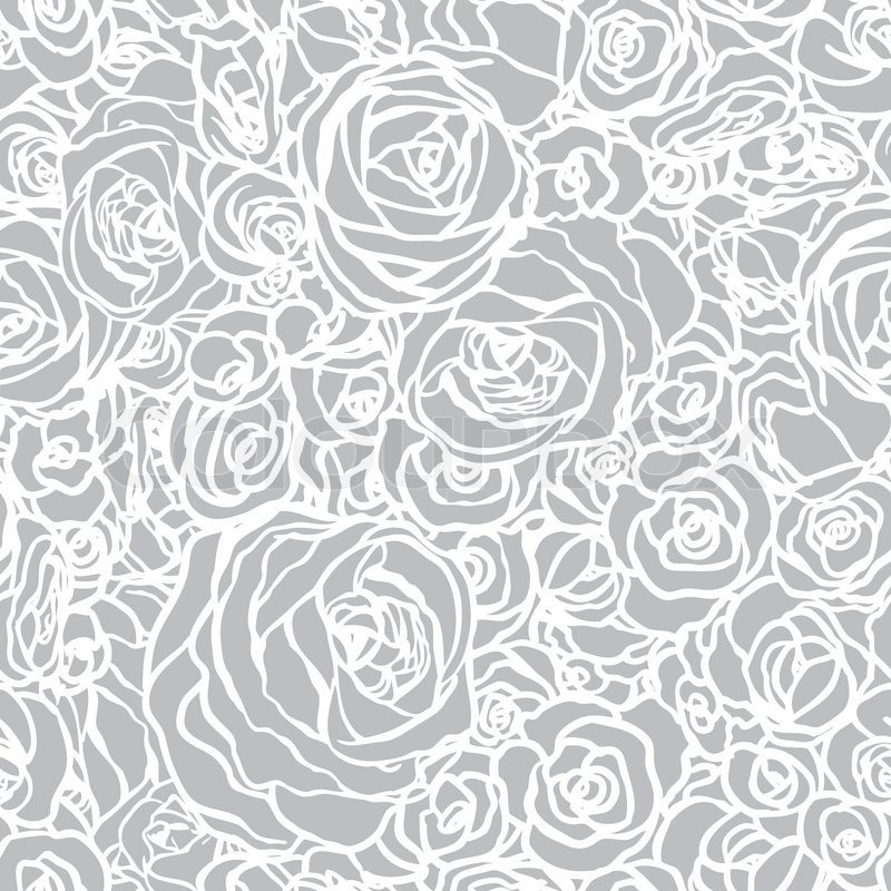 Seamless pattern with flowers roses, vector floral ...