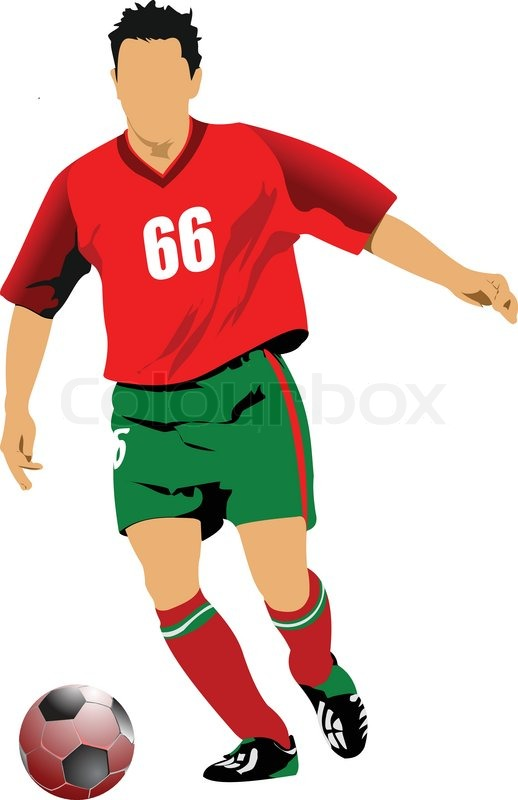 Soccer Football Player Stock Vector Colourbox
