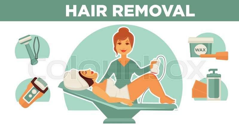 Hair Removal Poster Icons And Stock Vector Colourbox