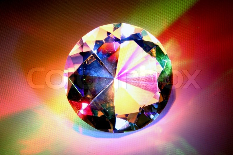 lights a sparkles drawing rainbow stock diamond in