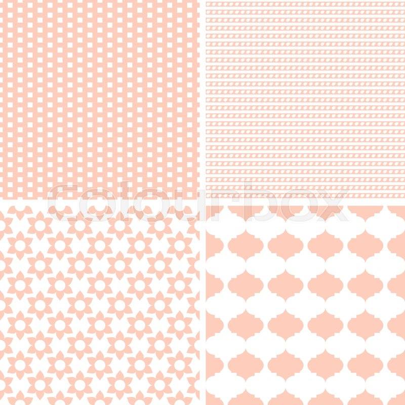 Cute Different Vector Seamless Patterns Endless Texture Can Be Used