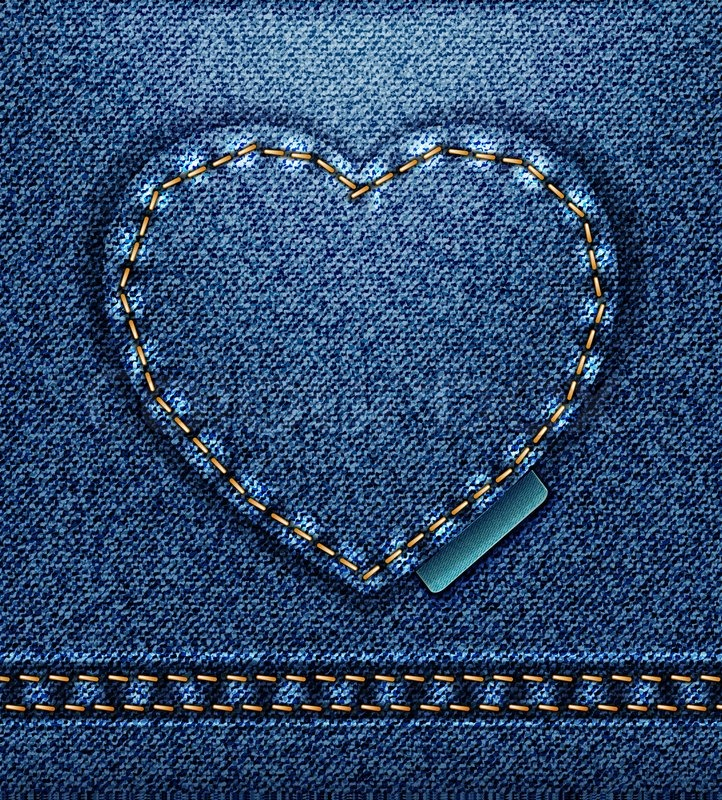 Raster Jeans Heart Denim Texture Stock Photo Colourbox