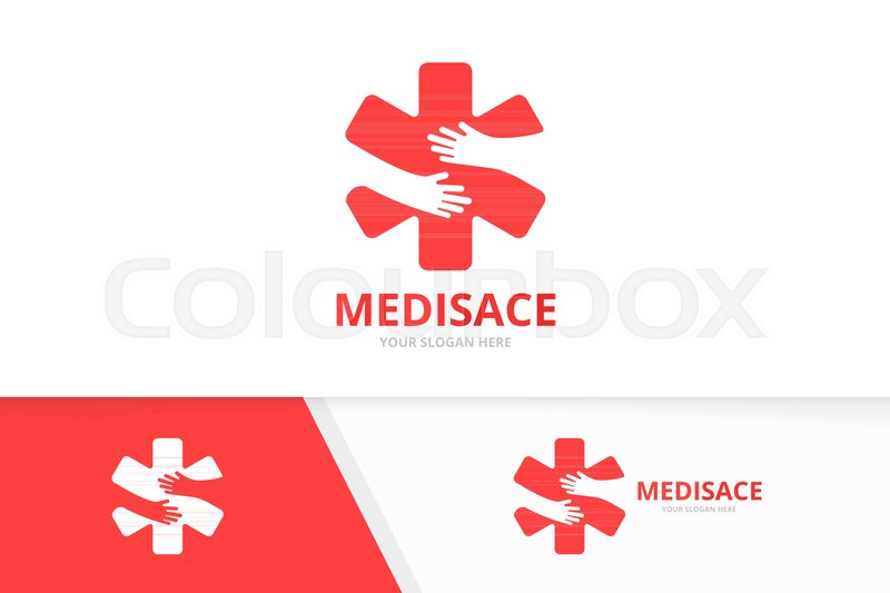 Vector Ambulance And Hands Logo Combination Medic And Hug Symbol Or